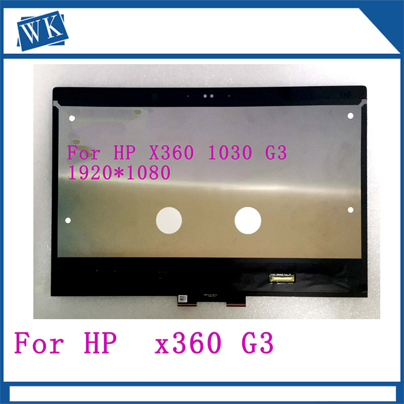 13.3 inch LCD For HP EliteBook x360 1030 G3 13.3 LED Touchscreen FHD 1080P M133NVF3 R1  2 in 1 Notebook LCD Screen13.3 inch LCD For HP EliteBook x360 1030 G3 13.3 LED Touchscreen FHD 1080P M133NVF3 R1  2 in 1 Notebook LCD Screen