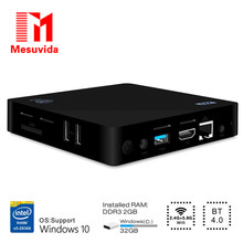 Mesuvida Z83II Windows 10 TV Box В тел Atom x5-Z8350 Quad Core Mini PC 2.4 Г + 5.8 Г Wi-Fi Set Top Box 2 Г DDR3L 32 Г ROM Smart Box ТВ