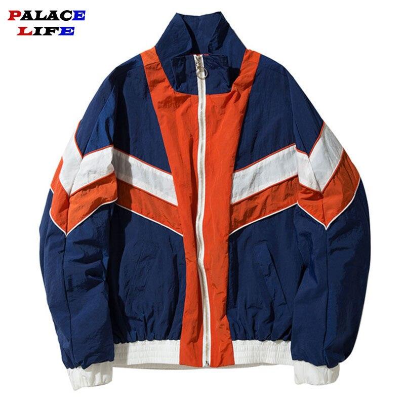 Patchwork Blusão Casacos Casal Homens/mulheres 2019 Do Vintage Da Moda Hip Hop Streetwear Mens Jaquetas Casacos jaqueta masculino