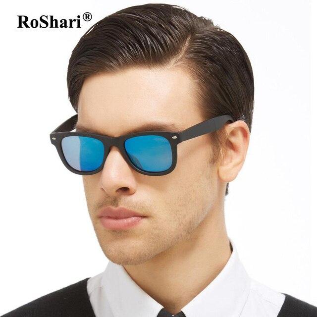 47a18c565f4 RoShari Vintage Men Polarized Sunglasses women Brand Designer blue lens Fold  Driving Sun glasses men gafas de sol 2140-1