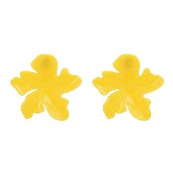 4a064d1592d5 2019 nuevo coreano forma de flor geométrica acrílico Stud pendientes para  las mujeres chica elegante Bohemia pendiente joyería de fiesta de orecchini