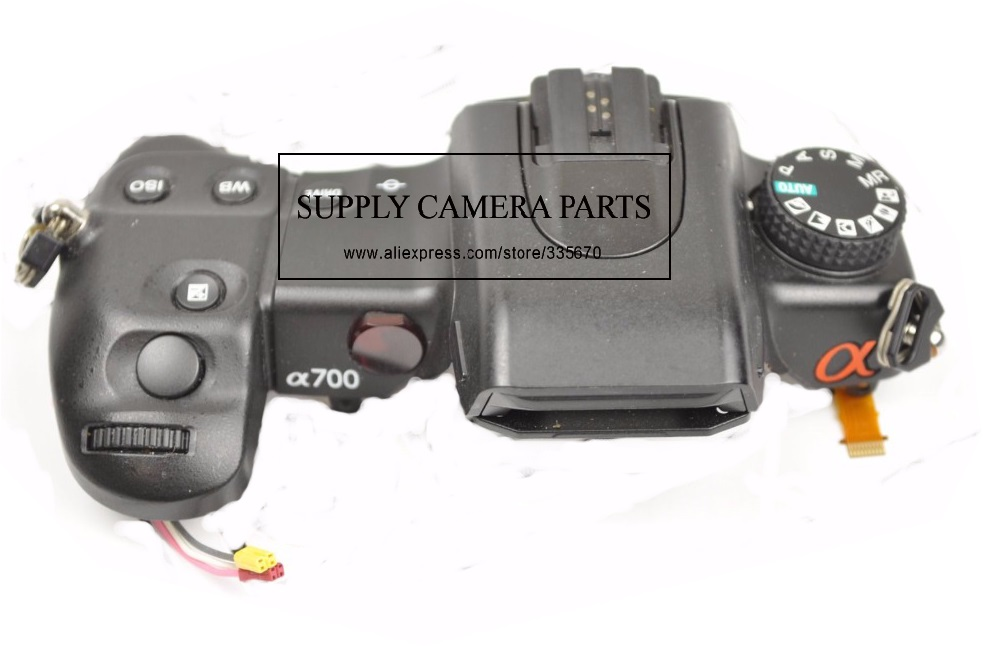 FREE SHIPPING!95%New For Sony Alpha DSLR-A700 a700 Top Cover With Dial and Flash Pop Up Replacement Part free shipping 95%new for panasonic lumix dmc fz70 fz70 top cover shutter board pcb part