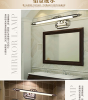 Châu âu-Mỹ gương lights cabinet Địa Trung Hải Đông phòng tắm gương mặt trận ánh sáng antique bronze gương DẪN chiếu sáng sáng