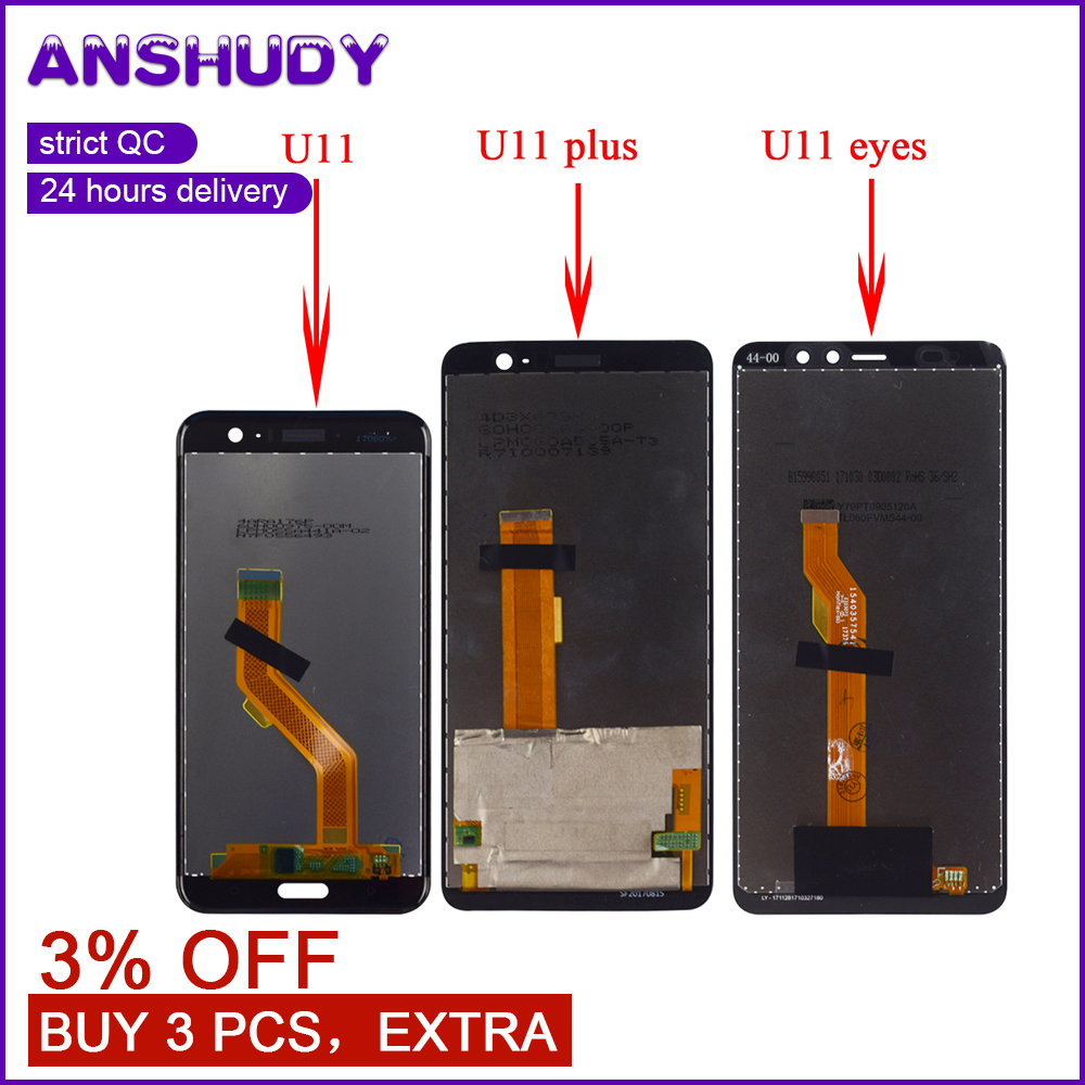 For HTC U11 LCD Display Touch Screen Digitizer Sensor Assembly For HTC U11 LCD Display U11 Plus Touch Screen U11 + U11 EyesFor HTC U11 LCD Display Touch Screen Digitizer Sensor Assembly For HTC U11 LCD Display U11 Plus Touch Screen U11 + U11 Eyes