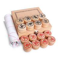 Chinese Chess Wooden Game Set Board Game for Xiangqi Travel Game Entertainment Kid Gift Family Board Game Big