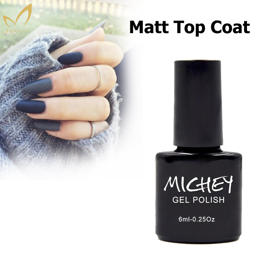 MICHEY No limpiar mate Top remojo de Gel esmalte de uñas Gel UV laca superficie Esmaltes Gel transparente