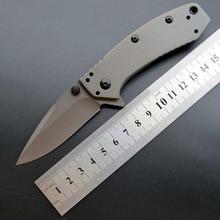 купить Eafengrow Kershaw 1555Ti Folding Pocket Knife 8Cr13MoV Steel Titanium plating Flipper Outdoor Survival EDC Tool kitchen knife дешево