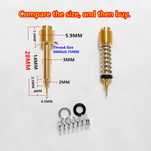 (2pcs / pack)carburetor fuel ratio adjusting screw Keihin the carb air screw For Harley 883 (CV Type) KPS ZZR250 Zephyr 400