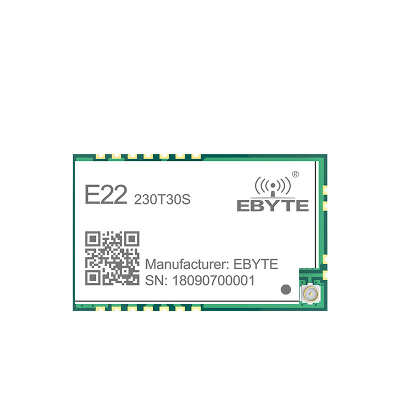 SX1262 LoRa TCXO 230MHz 30dBm SMD E22 230T30S Wireless Transceiver IPEX Stamp Hole 1W Long Distance Transmitter and Receiver in Fixed Wireless Terminals from Cellphones Telecommunications