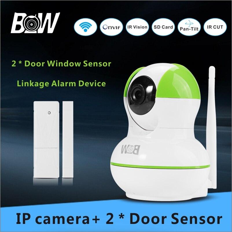 Surveillance IP font b Camera b font Wireless 2 font b Door b font Sensor Alarm
