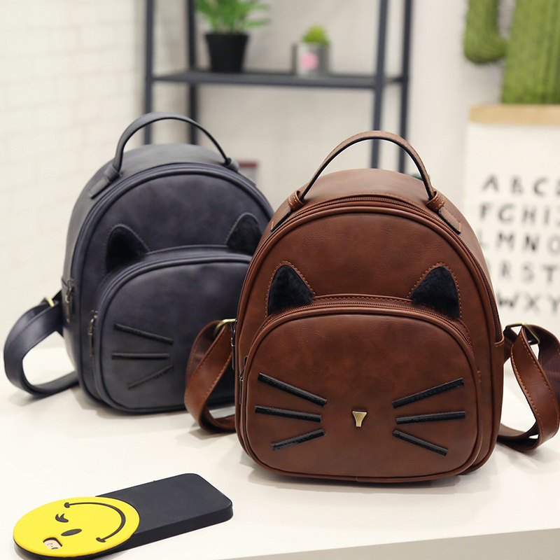 New 2017 Hot PU Cute Deer Print Women Backpacks Bollege Style  Fashion Personality All-Match Printing Originality Shoulder Bag hot fashion design personality little bear women backpacks cute character shapes cartoon girls schoolbag casual shoulder bag