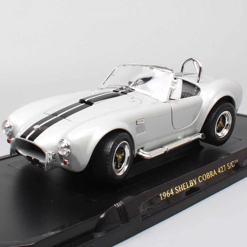 1/18 large classic car 1964 Ford Shelby AC Cobra 427S/C racing scale cars model metal Diecasts & Toy Vehicles miniature for kids