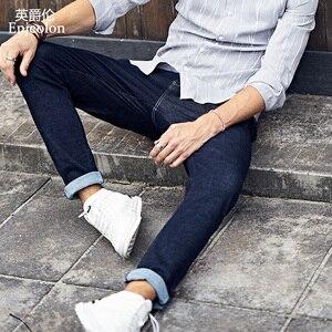 Image 3 - Enjeolon 2020 Nieuwe Heren Jeans Merk Zwarte Jeans Mannen Mode Lange Broek Heren Denim Jeans Broek Kleding Plus Size KZ6141