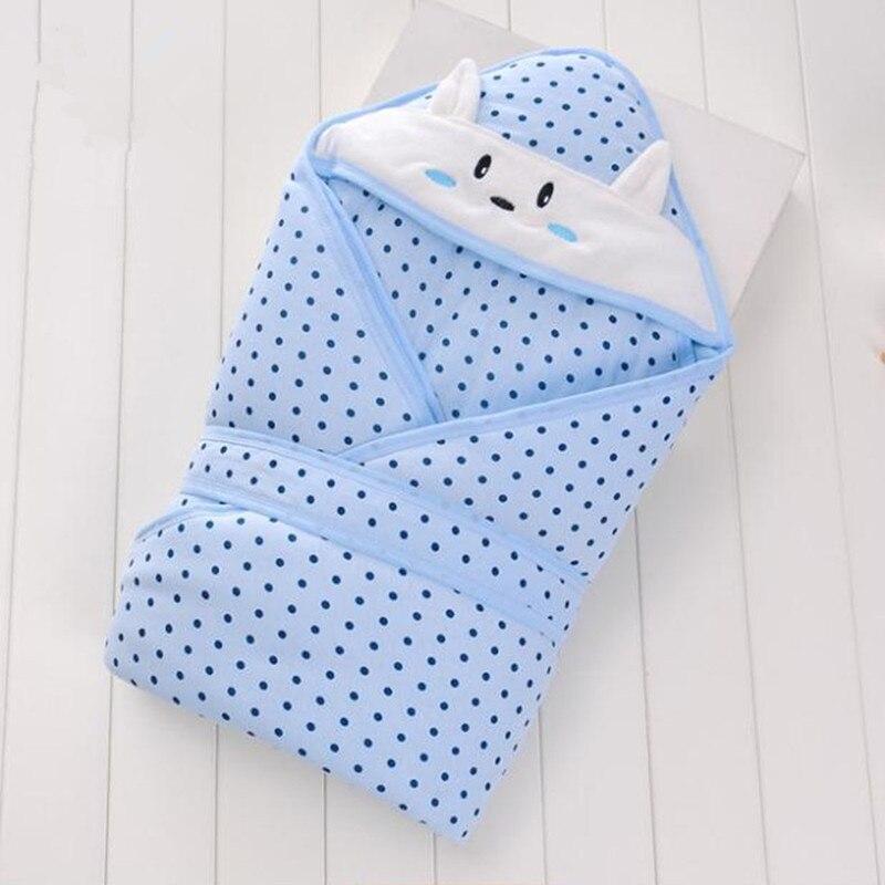 Cotton Baby Blanket 0-1 Years Newborn Envelop Swaddle Wrap Blanket 90*90 Cm