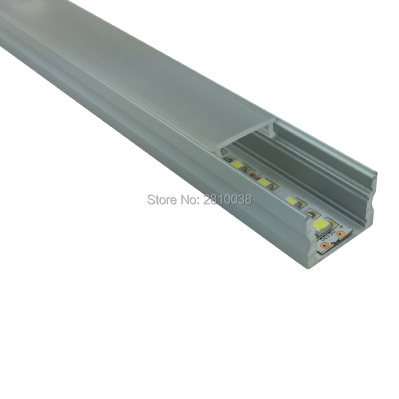 10 x 1M Sets/Lot Square Anodized led tape housing and AL6063 led strip aluminum housing for recessed wall or flooring lights