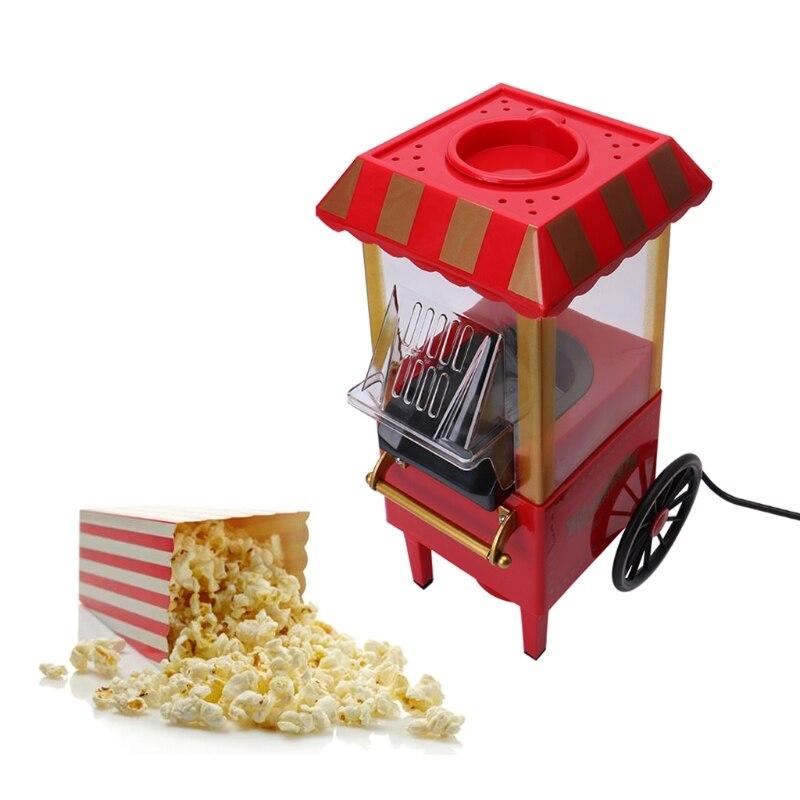 110V 220V utile Vintage rétro électrique pop-Corn Popper Machine maison fête outil ue Plug bricolage maïs Popper enfants cadeau Air chaud - 2
