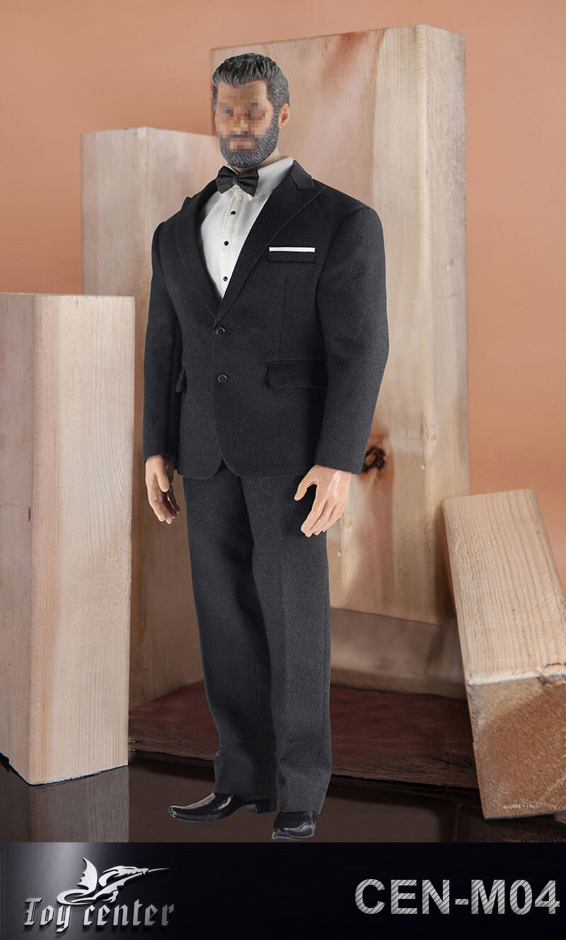 1/6 soldat modèle britannique Gentleman costume avec ceinture de chemise et chaussures en cuir pour poupée de corps d'action musculaire