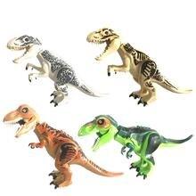 Горячие динозавры игрушки большой Indominus Rex мир Юрского Периода Динозавры фигурки блоки Raptor игрушки набор для детей подарок для мальчика