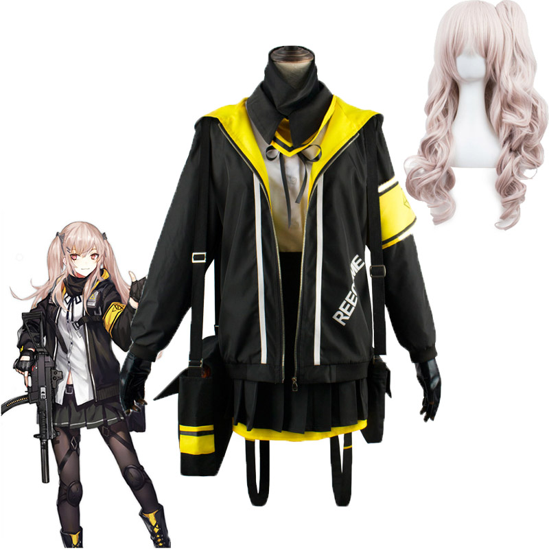 Game Girls Frontline Ump45 Outfit Set Costumes Cosplay Battle Uniform Women Girls Halloween Carnival High School Party Costume