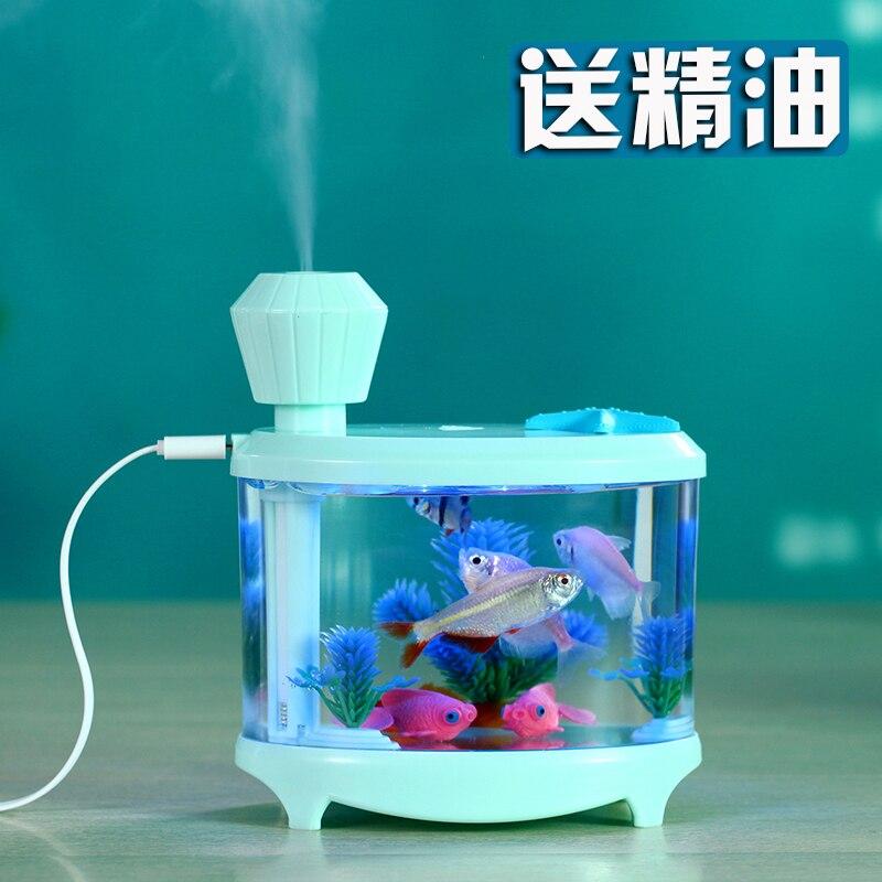 Cadeau d'affaires silencieux hydratant Mini Usb humidificateur d'air réservoir de poisson arôme diffuseur bureau maison Luces Led Para El Hogar
