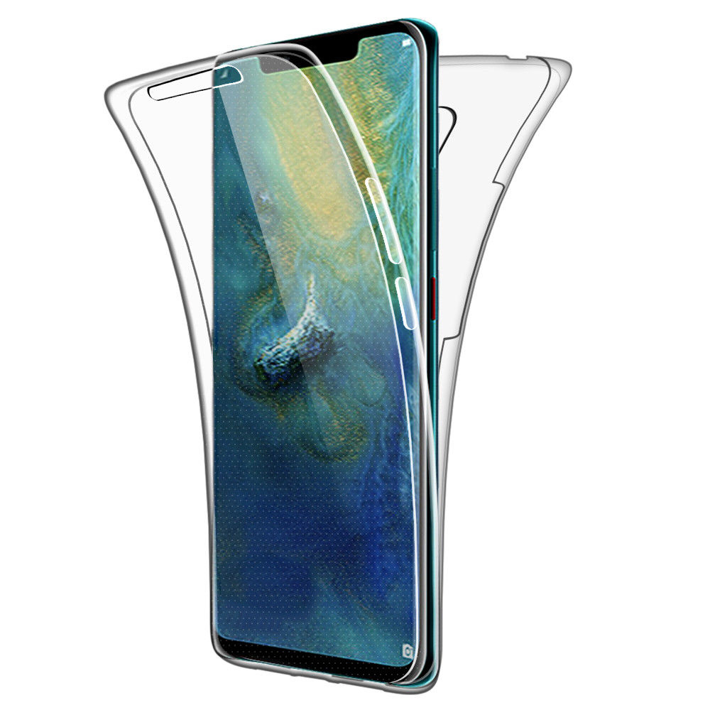 <font><b>360</b></font> Full Body <font><b>Case</b></font> For <font><b>Huawei</b></font> P8 P9 P10 P20 P30 Mate 10 20 lite Pro Y6 <font><b>Y7</b></font> Y9 P Smart <font><b>2019</b></font> 2017 Soft Clear TPU Coque Phone Covers image