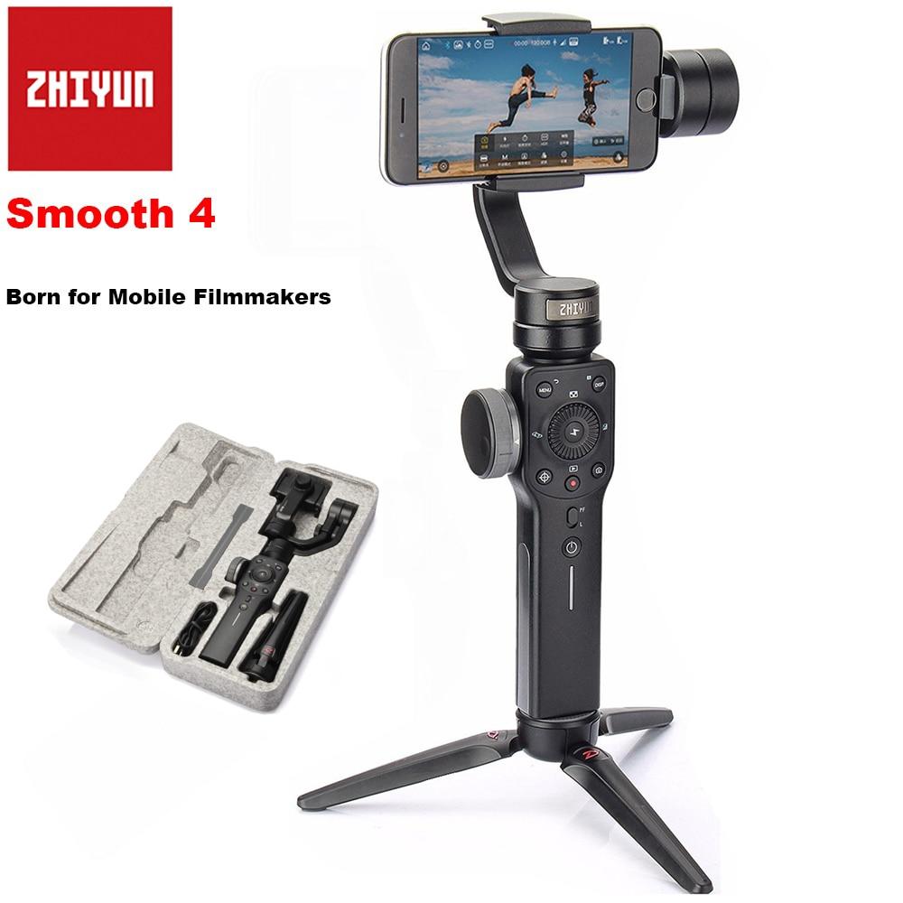Zhiyun Lisse 4 Axes De Poche Smartphone Cardan Stabilisateur pour iPhone X 8 Plus 8 7 P 7 Samsung S9 S9 + S8 PK Lisse Q DJI Osmo 2