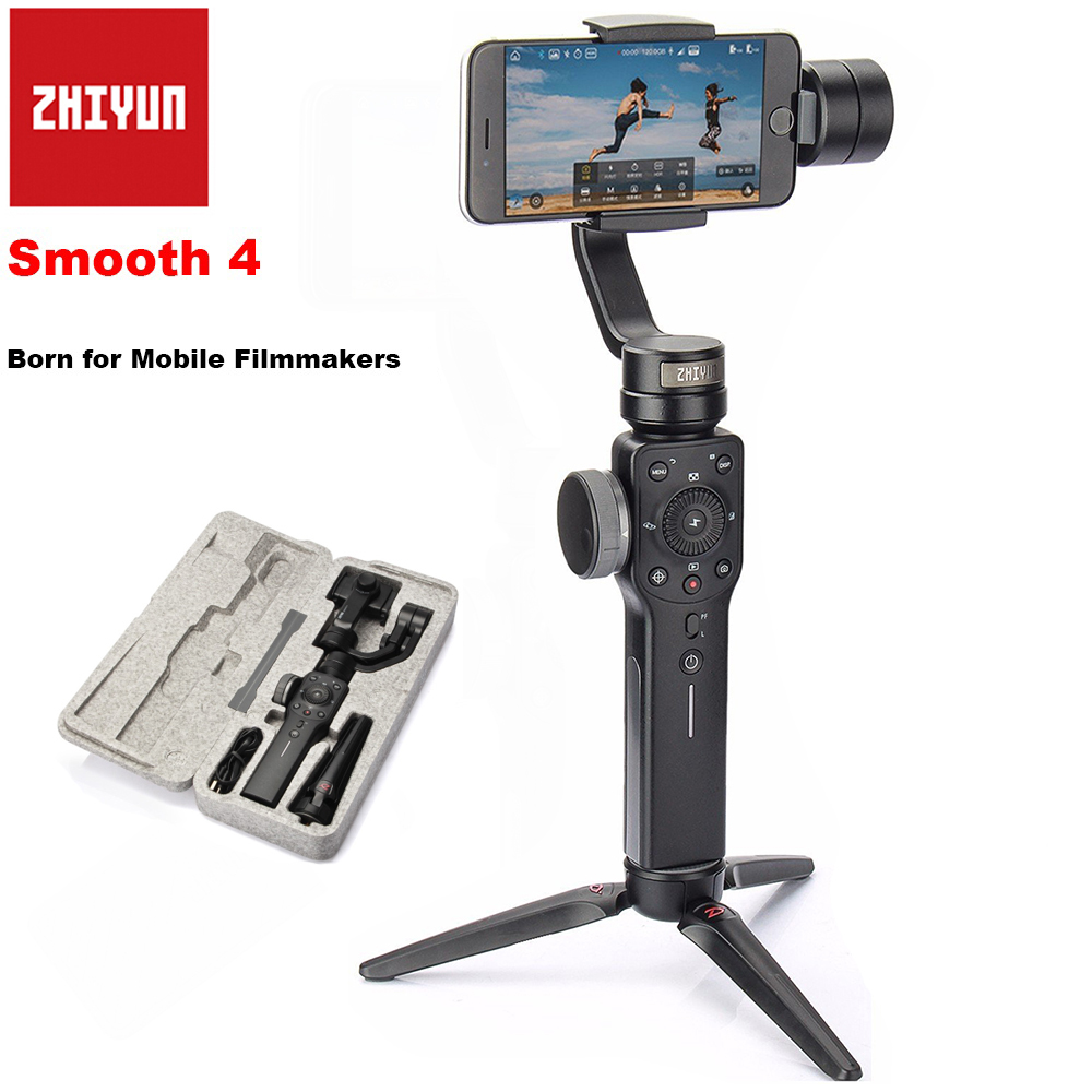Zhiyun Smooth 4 3-Axis Handheld Smartphone Gimbal Stabilizer for iPhone X 8Plus 8 7P 7 Samsung S9 S9+ S8 PK Smooth Q DJI Osmo 2