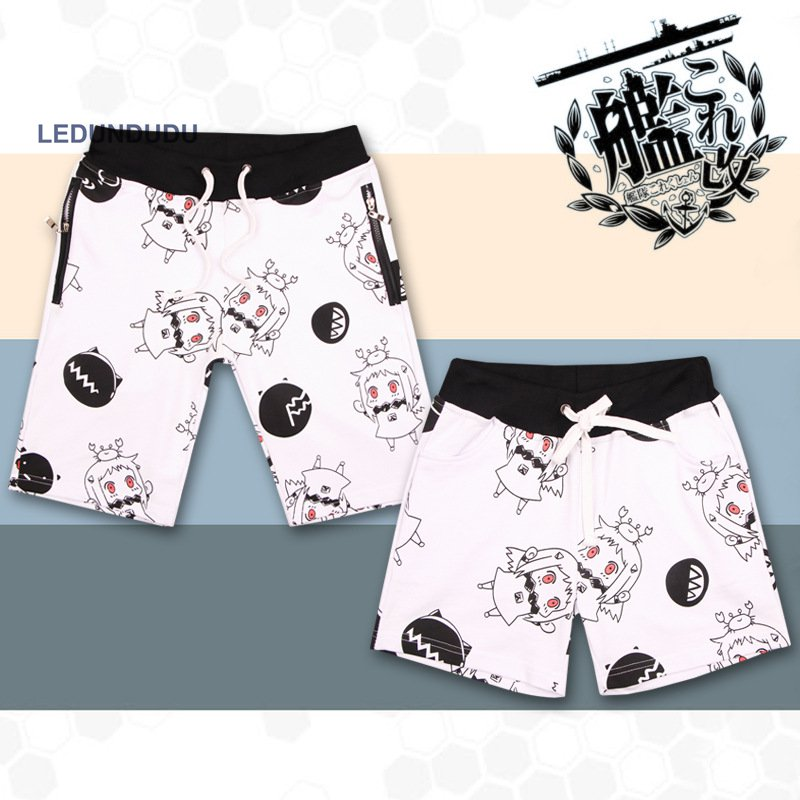 Cartoon Kantai Collection Pants Men Women Lovers Funny Seabeach Shorts Cosplay Costumes Shimakaze Summer Sweatpants