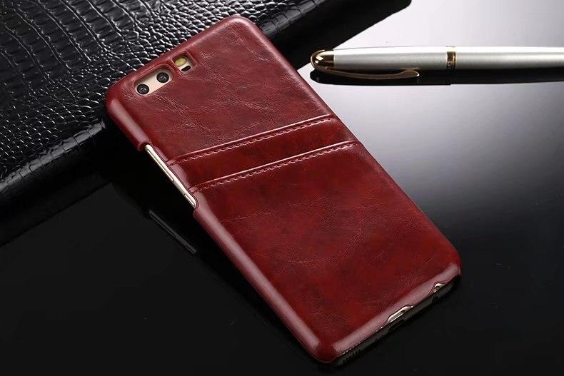 Cas En Cuir de luxe Pour Huawei P10 P10Plus Dur Carte Peau Protecive couverture arrière Cas pour huawei p10 lite p10lite téléphone shell