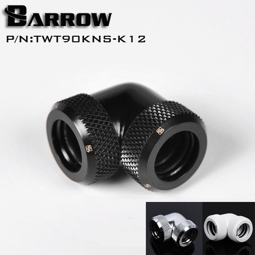 Barrow OD12mm/14mm Hard tube fitting 90 degree Rotary Fitting water cooling Adapter OD12mm hard pipe TWT90KNS-K12/TWT90KNS-K14 barrow white black silver od12mm hard tube fitting hand compression fitting g1 4 od12mm hard pipe tykn k12 v4