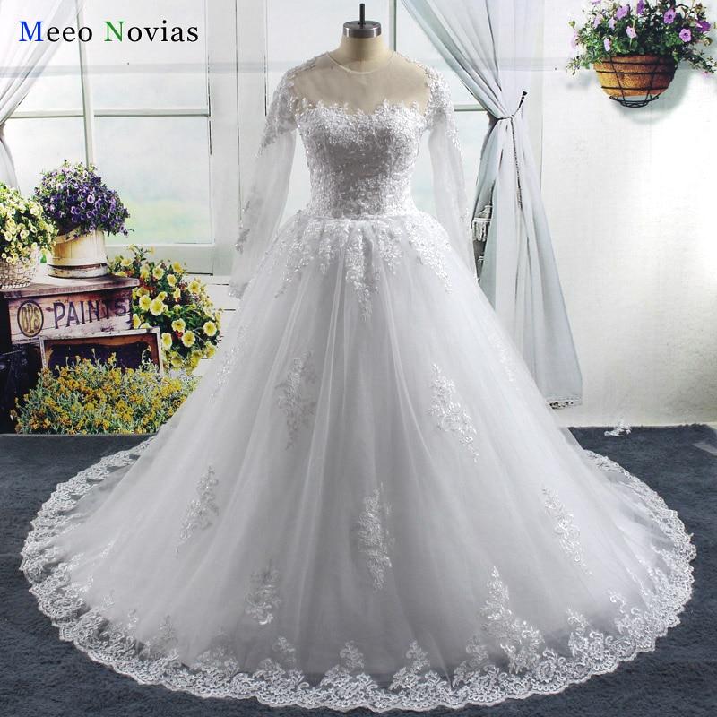 Vestido De Noiva Vestido de Novia 2017 de La Vendimia Con Cuentas vestido de Bol