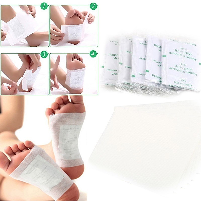 40pcs=(20pcs Patches+20pcs Adhesives) Detox Foot Pads Bamboo Charcoal Moisturizing Health Foot Mask Relief Stress Feet Skin Care