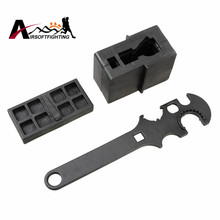 3 Combo Gunsmith Armorer's Tool Kit 5.56/.223 Stock Combo Wrench Lower Upper Vise Block Wrench Airsoft Tactical Hunting Tool