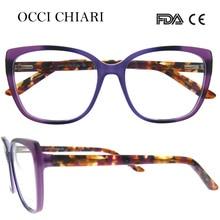 OCCI CHIARI 2018 New Fashion Italy Design Acetate Women Glasses Optical Big Eye Glasses Fashion Frames Eyewear W CERINI