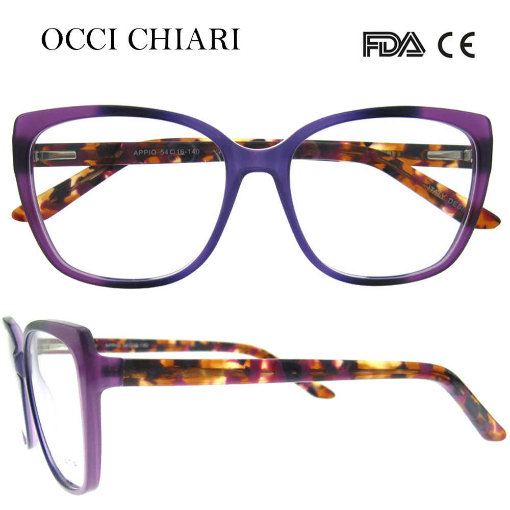 527540465d ... OCCI CHIARI 2018 New Fashion Italy Design Acetate Women Glasses Optical  Big Eye Glasses Fashion Frames ...
