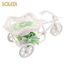 Трехколесный велосипед пентаграмма корзина контейнер вазы цветок для дома Свадебные украшения праздничные вечерние принадлежности Искусственные цветы держатель