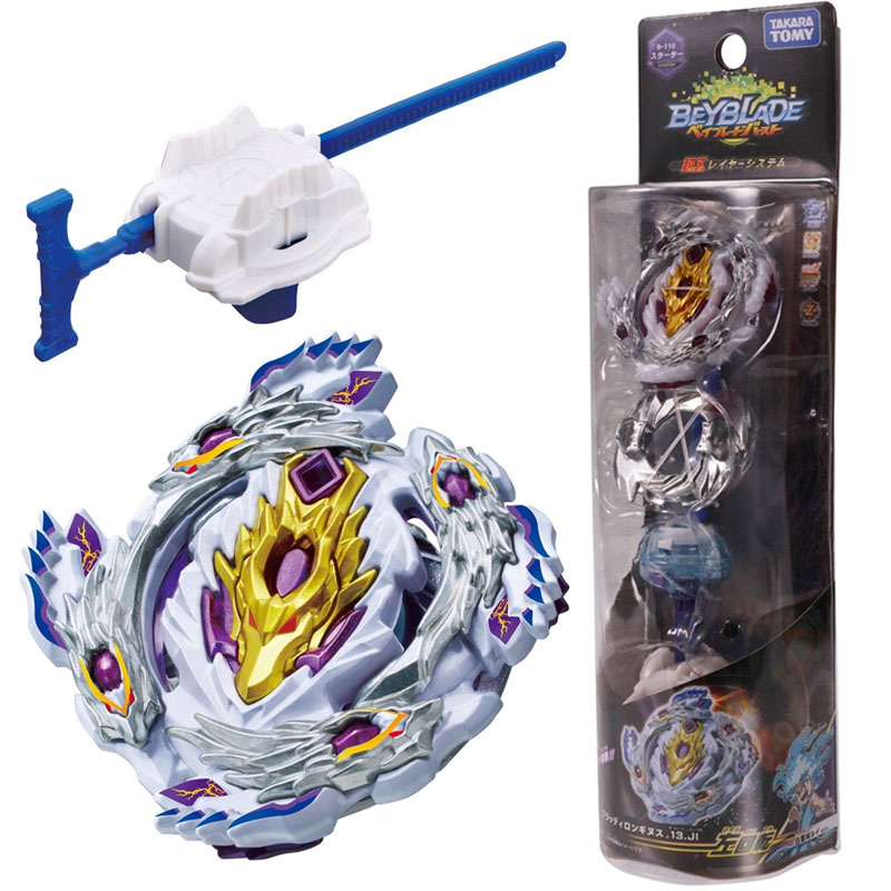 Takara Tomy Beyblade Burst Metal Fusion Toupie Attack Pack With Launcher GT B-110 Spinning Top Toys Kids Gifts