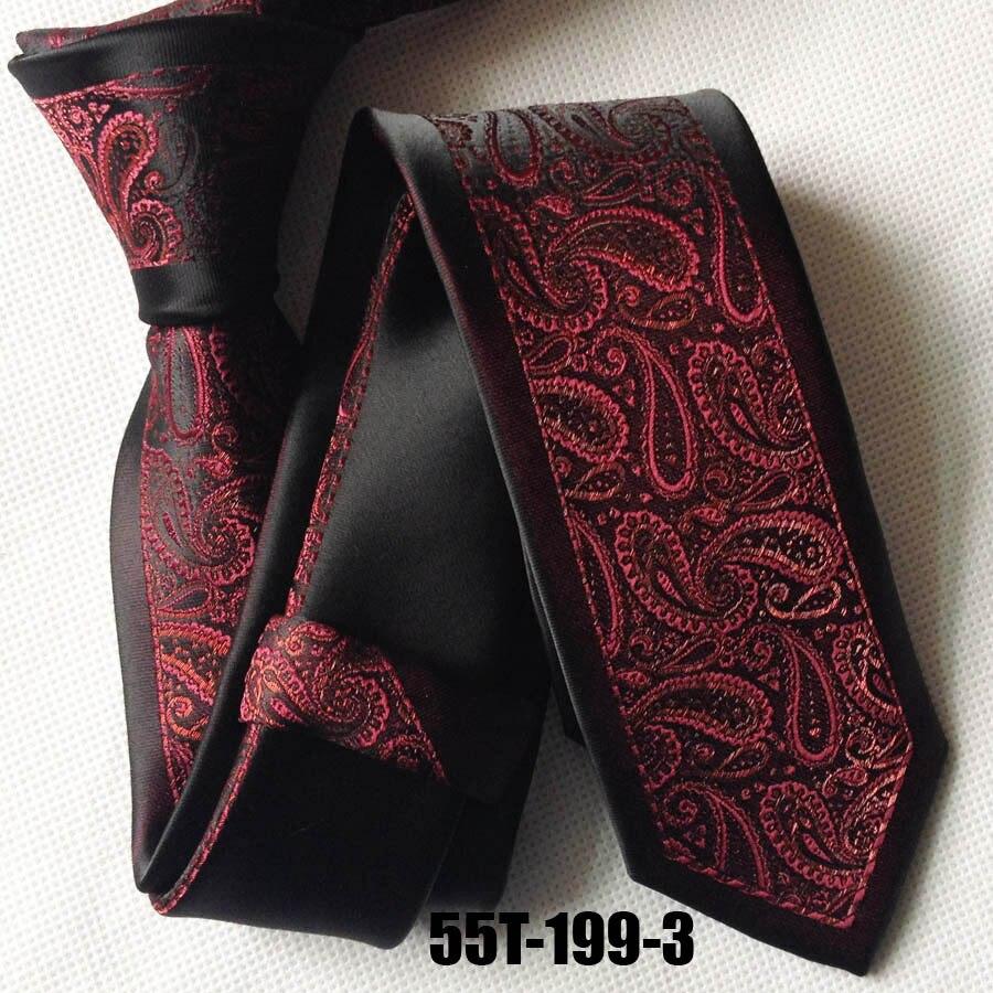 Уникальный Галстук lingyao дизайнерский галстук Жених Свадебный галстук черная кайма с красным Галстук Пейсли