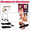 Free Shipping!Black Mircophone+Beige Headset+Handheld Clip Mic for Voice Bosster Amplfier Aker