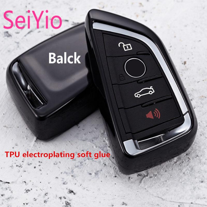 Hot Selling SeiYio Car key ring bag for BMW X1 X3 X5 X6 3 series 5 series Fashion style car cover for BMW key