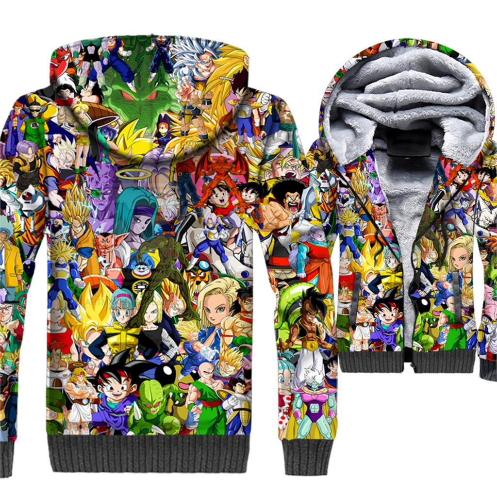 Dragon Ball 3D Printed Hoodie Men Anime Super Saiyan Sweatshirt Ninja Vegeta Coat Fleece Jacket Master Roshi Harajuku Sportswear