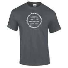 af9f8dff4f4e5 Liberte Egalite Fraternite Ou La Mort Fransız Devrimi DTG Fransa T-Shirt  Yeni T Shirt Komik Üstleri Tee Yeni Unisex Komik tops