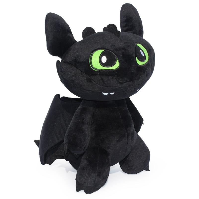 How to Train Your Dragon 2 30CM Toothless Cartoon Night Fury Plush Toys Dolls dragons фигурка toothless сидящий