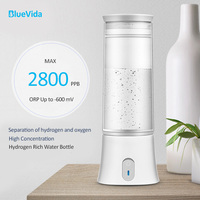 The 3th Generation Up to 2800 ppb hydrogen content Hydrogen water bottle, SPE+PEM Hydrogen Generator Water Ionizer