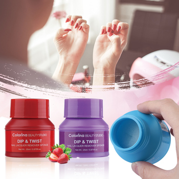 Fruit Scented Nail Polish Remover Sponge Wet Wipes Easy Soak Off Remover Manicure Nail Art Cleaner Nails Remover Tools 25ml Nail Art Accessories