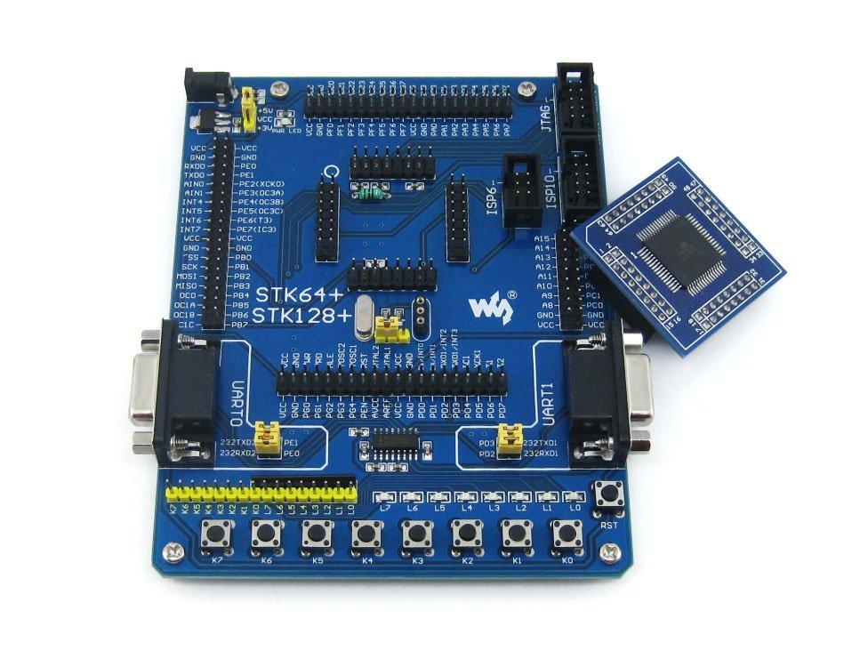 module ATmega128 ATmega128A ATMEL AVR Evaluation Development Board Kit + 2pcs ATmega128A-AU Core Board lora performance evaluation board test board