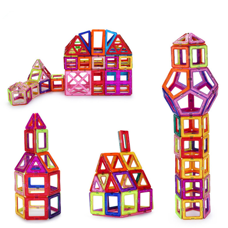 47pcs/set Magnetic Construction Magformers Models Building Blocks Toys DIY 3D Magnetic Bricks Kids Toys mini 136pcs set magnetic construction magformers models building blocks toys diy 3d magnetic bricks kids toys