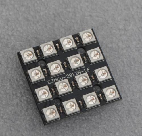 WS2812B 4*4 16 Ultra Bright 5050 RGB LED Lamp Panel for Arduino no name ws g05 b