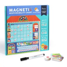 Деревянная Магнитная награда, диаграмма ответственности, календарь, расписание для детей, развивающие игрушки для детей, целевая доска
