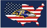 Baltimore Ravens Double Side Car Flags Car Products 100D Polyester 30*45 cm